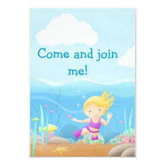 Seeseitenspaß - Party lädt ein 12,7 X 17,8 Cm Einladungskarte