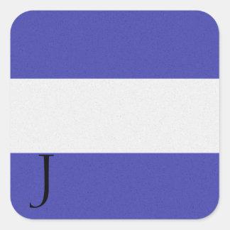Seesignal-Flaggen-Alphabet-Aufkleber J Quadratischer Aufkleber