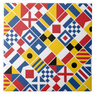 Seesignal-Flaggen-Muster Keramikfliese