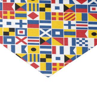 Seesignal-Flaggen-Muster Seidenpapier