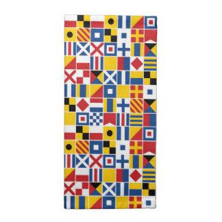Seesignal-Flaggen-Muster Stoffserviette