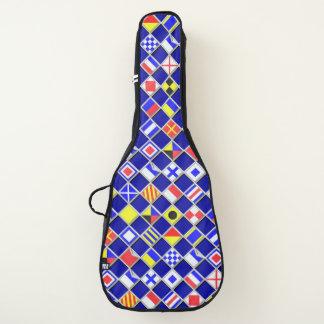 Seesignal-Flaggen-Schachbrett-Dekor auf a Gitarrentasche