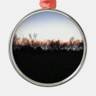 Seesonnenuntergang mit silbernes ornament