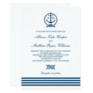 Seestreifen-Thema der Hochzeits-Einladungs-| Karte