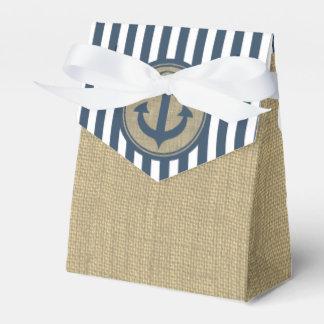 Seestreifen und Anker Geschenkkartons