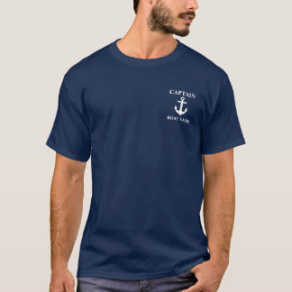 SeeT - Shirt M kapitän-Boat Name Anchor Blue