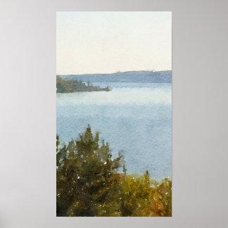 Seeüberlegener schöner abstrakter Watercolor Poster