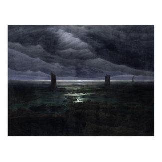 Seeufer in Mondschein, 1835-36 Postkarte