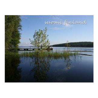Seeufer in Suomi Finnland Postkarte