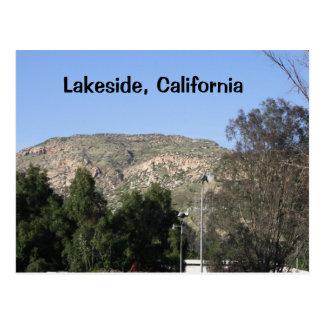 Seeufer, Kalifornien-Gebirgspostkarte Postkarte