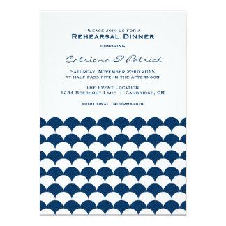Seewellen-Muster-Proben-Abendessen-Einladung 12,7 X 17,8 Cm Einladungskarte