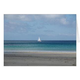 Segel-Boot Grußkarte