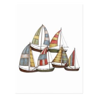 Segel-Boote Postkarten