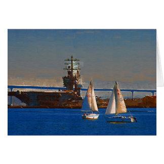 Segel-Boote, San Diego Hafen, Kalifornien Karte
