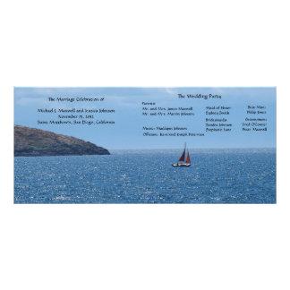 Segel-Boots-Hochzeits-Programm Werbekarte