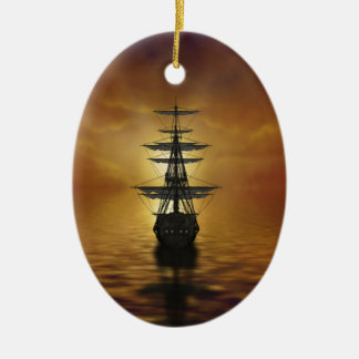 Segel Ovales Keramik Ornament
