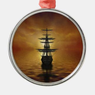 Segel Rundes Silberfarbenes Ornament