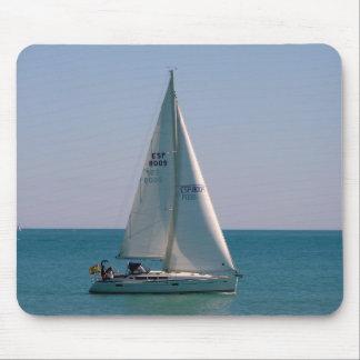 Segel Schiff in Mittelmeer Mousepad