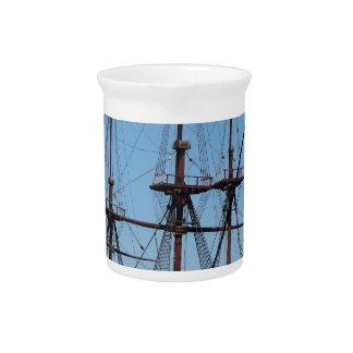 Segel-Schiff VOC Amsterdams hölzernes - Strecke Krug