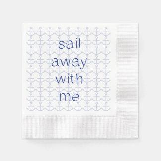 Segel weg mit mir serviette