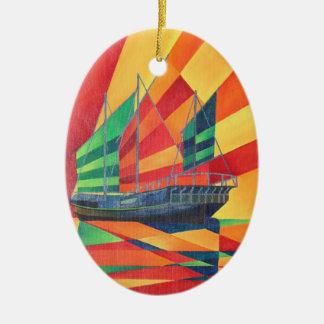 Segel weg ovales keramik ornament