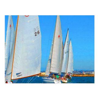 Segel zu Erfolgssan diego Kalifornien Segelbooten Postkarte