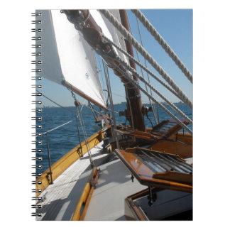 Segelboot auf Michigansee Notizblock