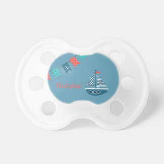 Segelboot-Boots-Anker-personalisierter Schnuller