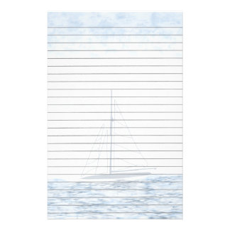 Segelboot-Briefpapier Individuelles Druckpapier