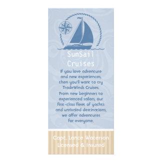 Segelboot-Brise Werbekarte