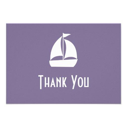 Segelboot danken Ihnen Mitteilungskarten (die Einladung