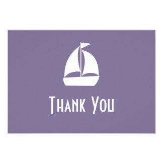 Segelboot danken Ihnen Mitteilungskarten die Einladung