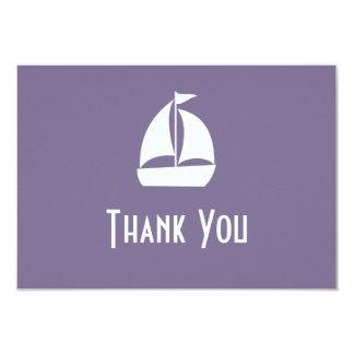 Segelboot danken Ihnen Mitteilungskarten (die 8,9 X 12,7 Cm Einladungskarte