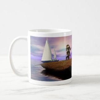 Segelboot im Ozean Kaffeetasse