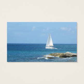 Segelboot im Ozean Visitenkarte
