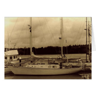 Segelboot im Sepia Notecard Grußkarte