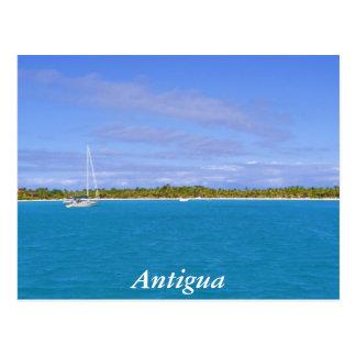 Segelboot in Antigua Postkarte