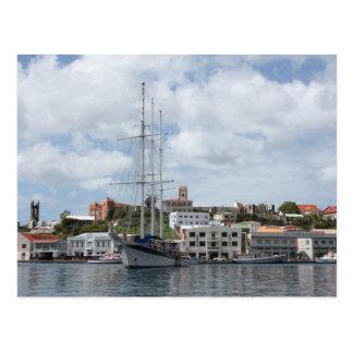 Segelboot in Grenada Postkarte