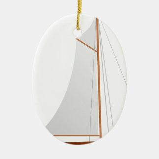 Segelboot Keramik Ornament