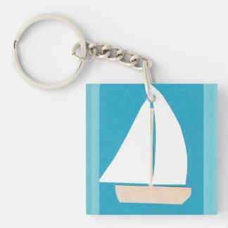 Segelboot Keychain Schlüsselanhänger