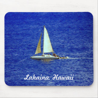 Segelboot, Lahaina, Maui Hawaii Mauspad