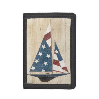Segelboot mit amerikanischer Flagge