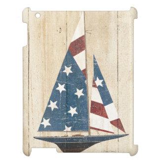 Segelboot mit amerikanischer Flagge iPad Hülle