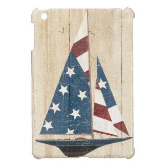 Segelboot mit amerikanischer Flagge iPad Mini Hülle