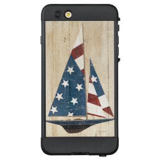 Segelboot mit amerikanischer Flagge LifeProof NÜÜD iPhone 6 Plus Hülle