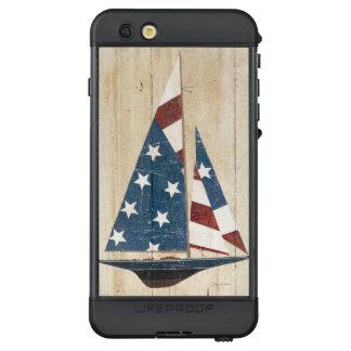 Segelboot mit amerikanischer Flagge LifeProof NÜÜD iPhone 6s Plus Hülle