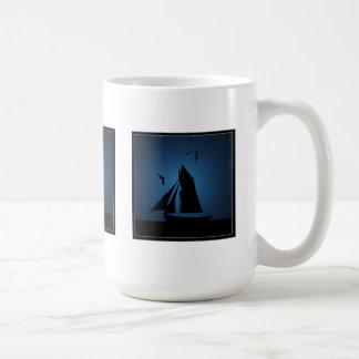 Segelboot-Ozean-Blau-Tassen Tasse