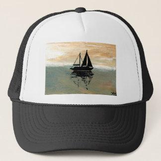 Segelboot-Reflexionen CricketDiane Ozean-Material Truckerkappe