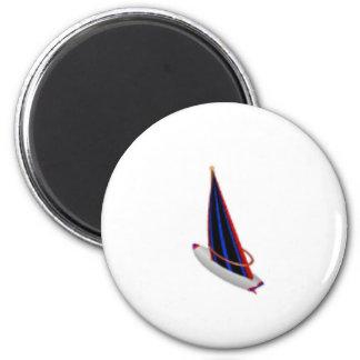 Segelboot Runder Magnet 5,7 Cm