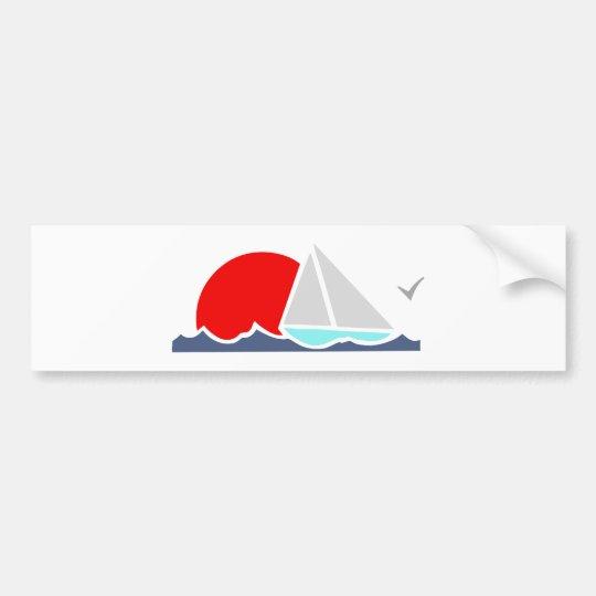 Segelboot sailing boat autoaufkleber